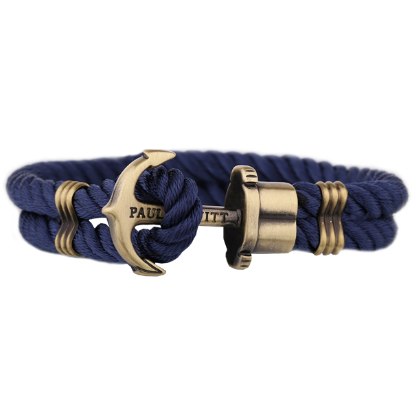 Paul Hewitt Br Anchor Nylon Bracelet Navy Blue