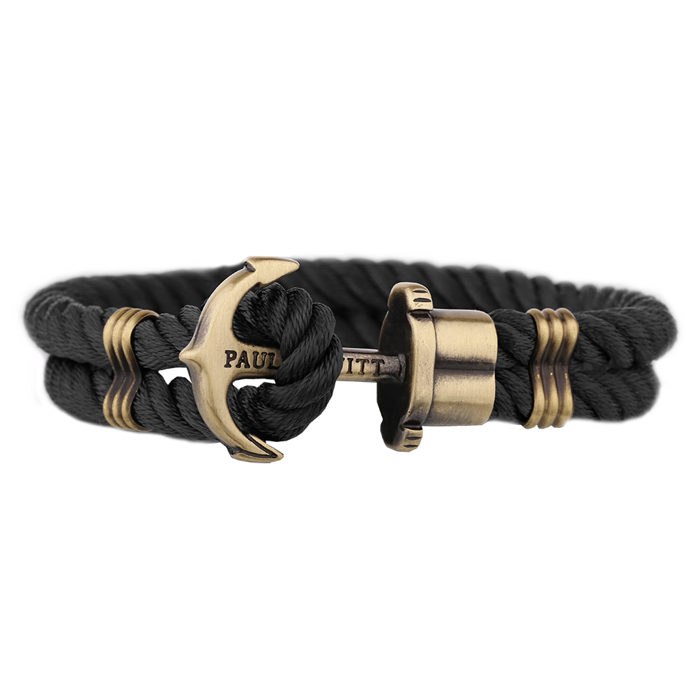 paul hewitt brass anchor nylon bracelet black. Black Bedroom Furniture Sets. Home Design Ideas
