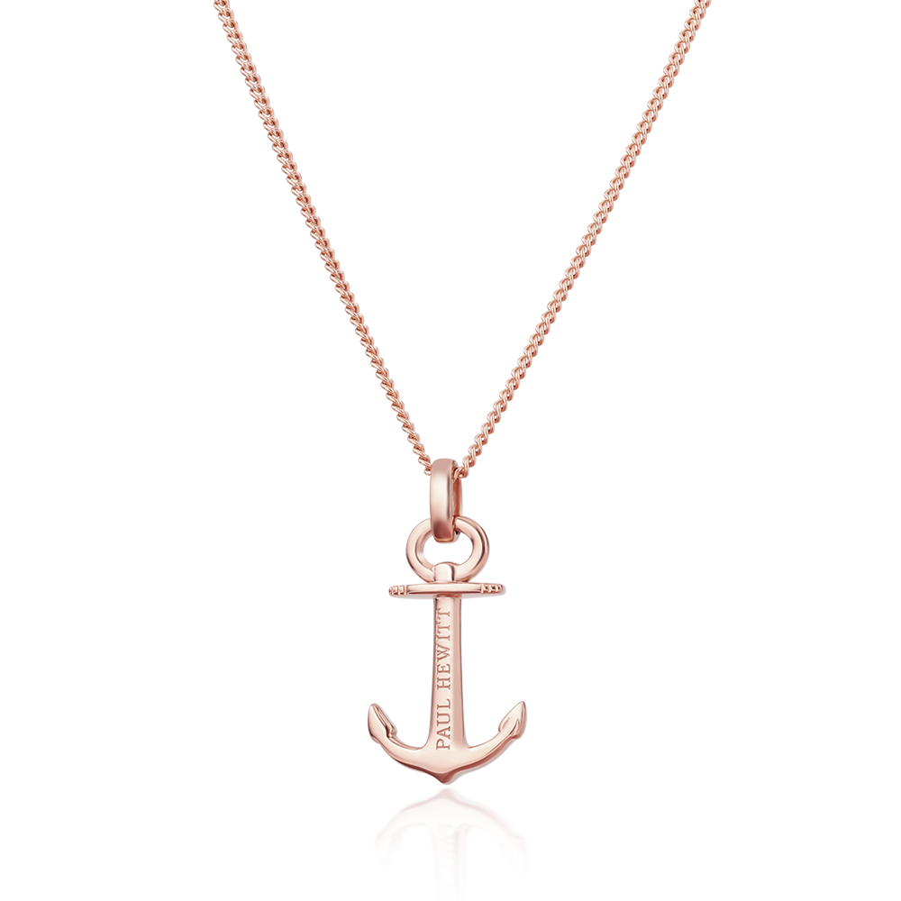 Paul Hewitt Anchor Spirit Necklace Rose Gold