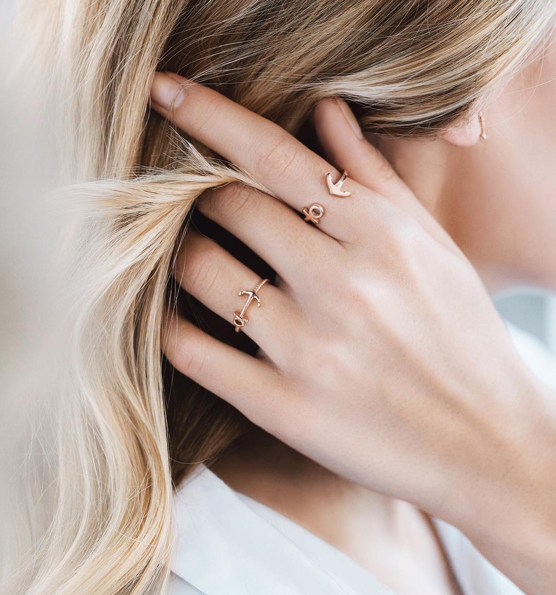 Gold Plated Anchor Ring