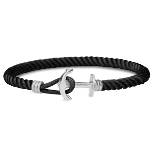 Ankerarmband-PHREP-Lite-Edelstahl-Nylon-Schwarz