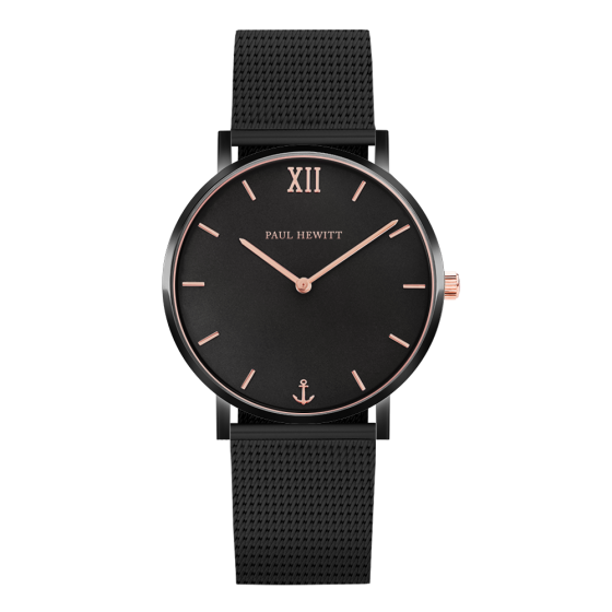 Uhr-Sailor-Line-Black-Sunray-IP-Rose-gold-Meshband-IP-Schwarz_600x600@2x